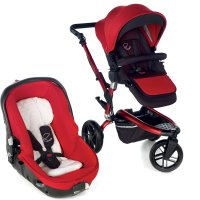 Poussette combiné duo trider avec matrix light 2 red