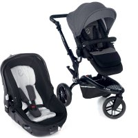 Poussette combiné duo trider avec matrix light 2 jet black