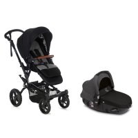 Pack poussette duo crosswalk r avec matrix light 2 jet black