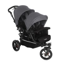 Poussette double powertwin jet black