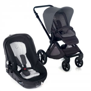 Poussette duo muum avec matrix light 2 jet black