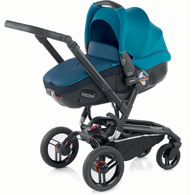 Pack poussette duo rider avec matrix light 2 teal Jane