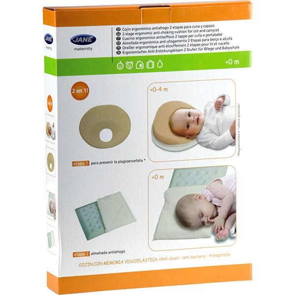 Câle tête bébé oreiller ergonomique pour nacelle et berceau Jane