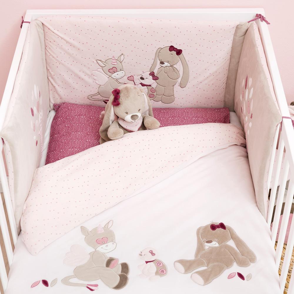 tour de lit lili jade et nina de nattou sur allob b. Black Bedroom Furniture Sets. Home Design Ideas