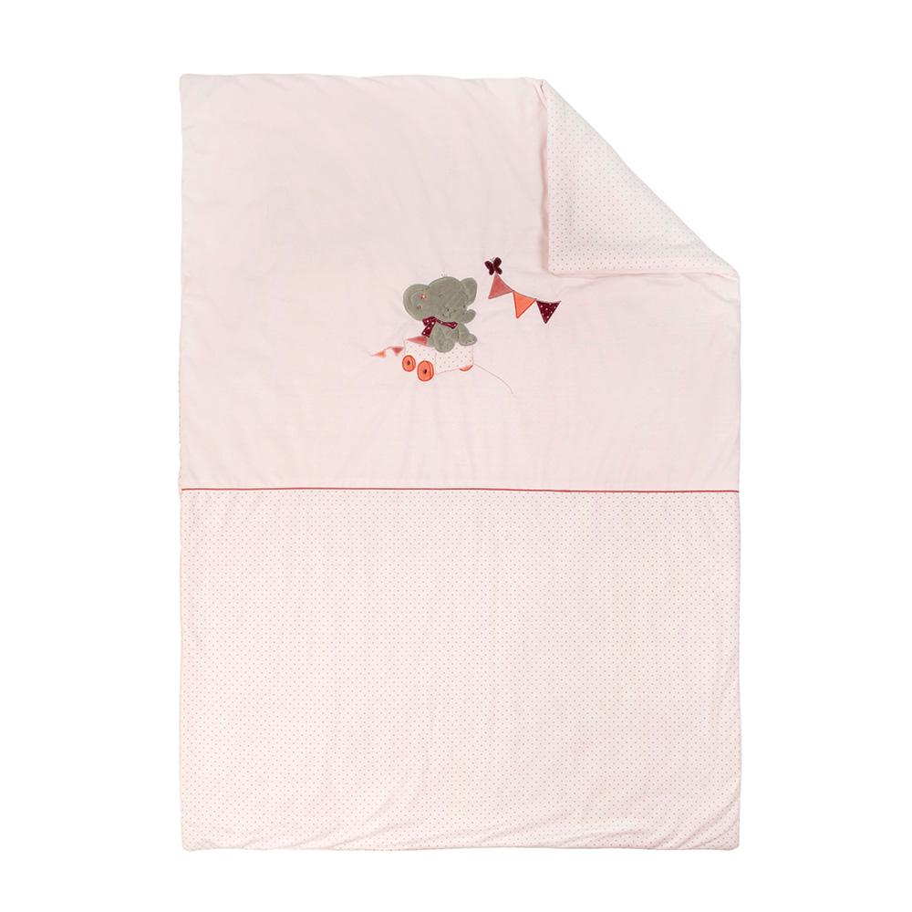 couverture 100x135cm valentine et ad le de nattou sur allob b. Black Bedroom Furniture Sets. Home Design Ideas