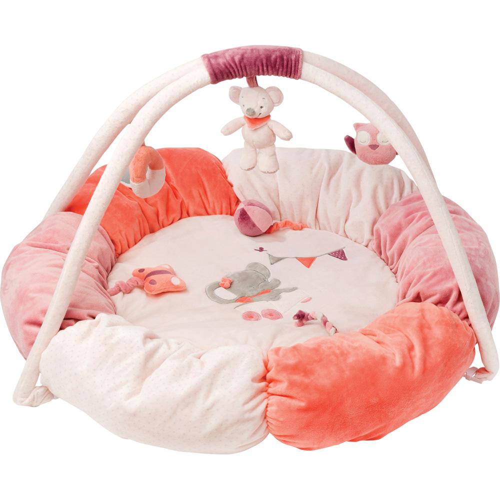 tapis d 39 veil pouf valentine et ad le de nattou. Black Bedroom Furniture Sets. Home Design Ideas