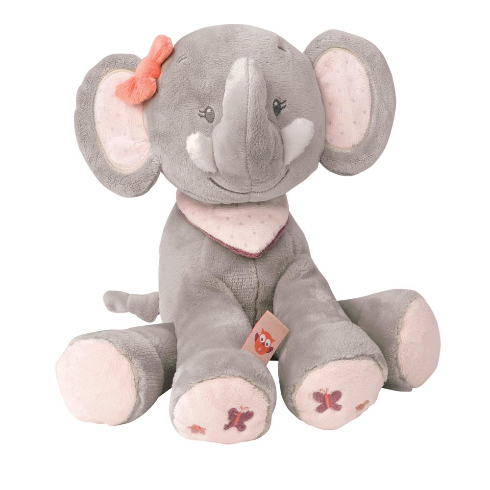peluche b b ad le l 39 elephant 28 cm de nattou. Black Bedroom Furniture Sets. Home Design Ideas