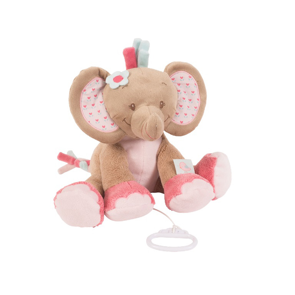 peluche b b musical l 39 lephant rose de nattou en vente chez cdm. Black Bedroom Furniture Sets. Home Design Ideas