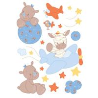 Stickers décoratifs arthur et louis