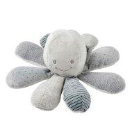 Peluche bébé pieuvre activités gris