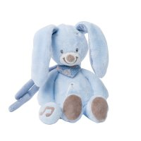 Peluche bébé mini musicale le lapin bibou