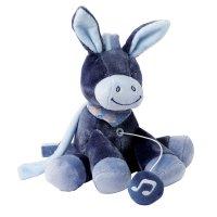 Peluche bébé mini musicale l'âne alex