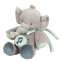 Peluche bébé mini-musical l'élephant jack