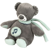 Peluche bébé mini-musical l'ours jules