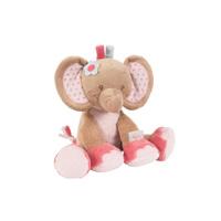 Peluche bébé l'éléphant rose