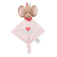 Mini doudou l'élephant rose