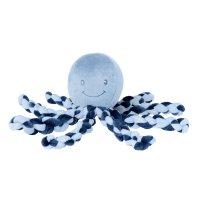 Peluche bébé pieuvre bleu
