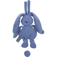 Doudou lapidou mini musical bleu royal