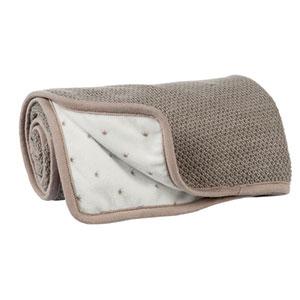 Couverture bébé tricot 75x100cm tom, max et noa