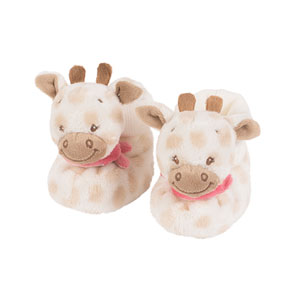 Chaussons d'éveil la girafe charotte