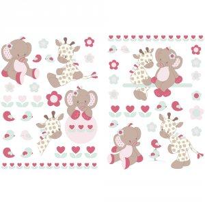 Stickers décoratifs charlotte et rose