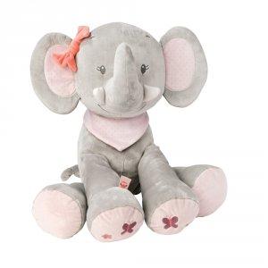 Mega peluche bébé adèle l'elephant 75 cm