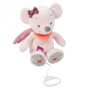 Peluche bébé musicale valentine la souris
