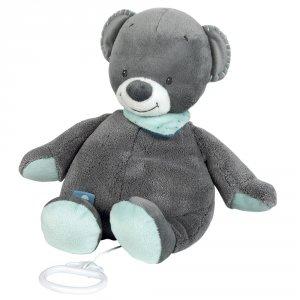Peluche bébé musicale l'ours jules