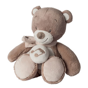 Peluche bébé mini-musical l'ours tom