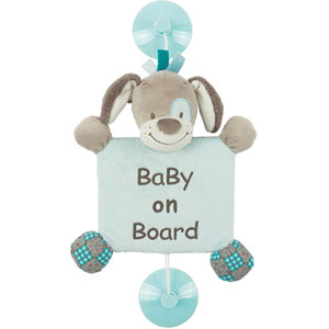 Signalétique baby on board chien cyril