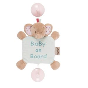 Signalétique bébé baby on board l'éléphant rose