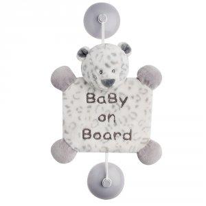 Signalétique baby on board panthère des neiges léa