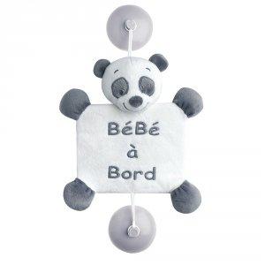 Signalétique bébé à bord panda loulou