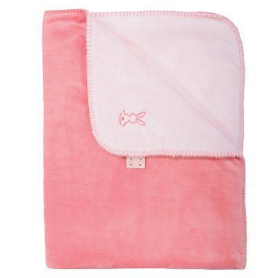 Couverture bébé supersoft 100x75cm lapidou rose-corail Nattou
