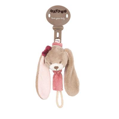 Attache sucette le lapin nina Nattou