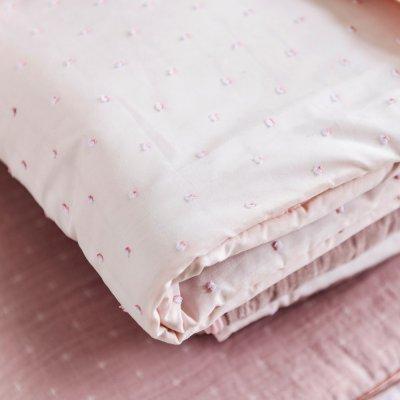 Couverture bébé 100x135cm pure rose Nattou