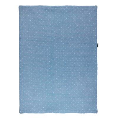 Couverture bébé 100x75cm pure bleu Nattou