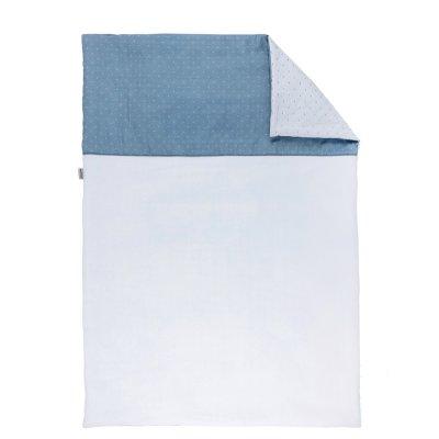 Couverture bébé 100x135cm pure bleu Nattou