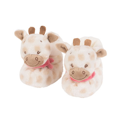 Chaussons d'éveil la girafe charotte Nattou