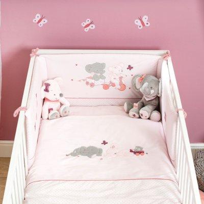 Tour de lit bébé valentine et adèle Nattou