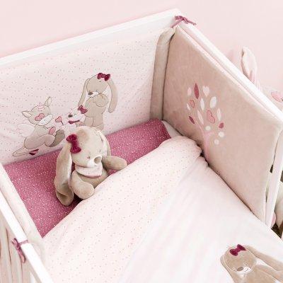 Tour de lit bébé lili, jade et nina Nattou