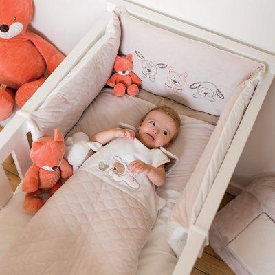 Tour de lit bébé fanny et oscar Nattou