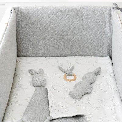 Tour de lit bébé pure gris Nattou