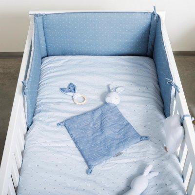 Tour de lit bébé pure bleu Nattou