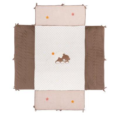 Tapis de parc avec bords 95 x 75 cm mia et basile Nattou