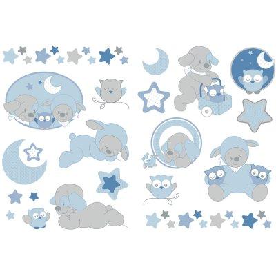 Stickers décoratifs sam et toby Nattou