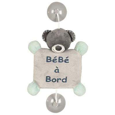 Signalétique bébé à bord l'ours jules Nattou