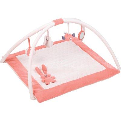 Tapis d'éveil avec arches 80x80cm lapidou corail/rose Nattou