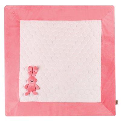 Tapis de parc lapidou 100x 100 cm corail/rose Nattou