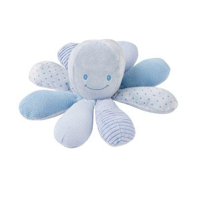 Peluche bébé pieuvre activités blue Nattou